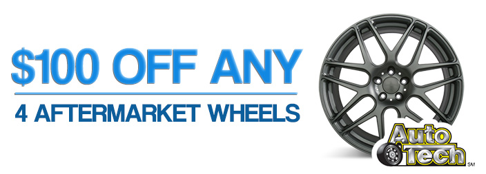 Save $100 on 4 New Wheels