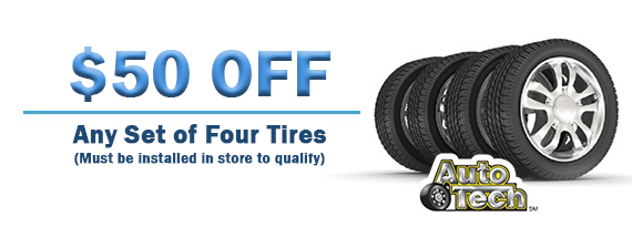 $50 Off Any Set of Four Tires